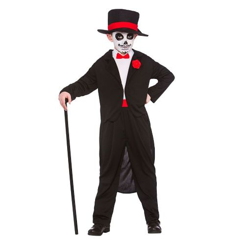 Boys Day Of the Dead Senor Costume Walking Dead Halloween Zombie Fancy Dress
